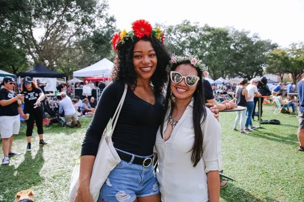 Girls w floral crowns at Localtopia 2019